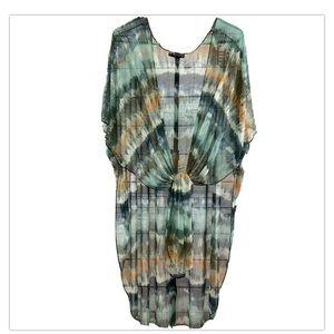 Try! This NWT Sheer Tie Dye Boho Kimono S/M Multi
